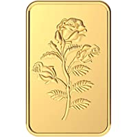 Malabar Gold & Diamonds 24k (999) Rose 5 gm Yellow Gold Bar