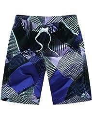PZLL Verano cortocircuitos ocasionales de los hombres, pierden surf grande y rápido-sequedad, color que empareja los hombres y pantalones cortos cinco pantalones , xl
