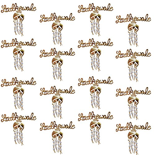 Coco Chanel Lucky Jewellery Trendy Ladkewale Gold Plated Wedding Brouch/Brooch Pin For Men & Women (Pack Of 16 )