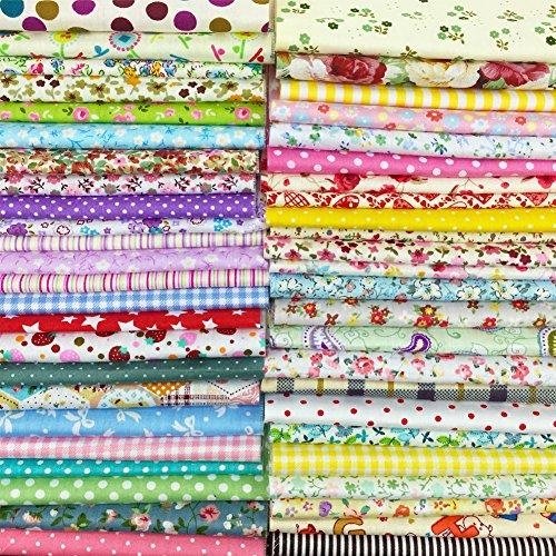 flic-flac 20010,2x 10,2cm (10cmx10cm) Baumwolle Craft Stoff Bundle Squares Patchwork Fusseln DIY Nähen Scrapbooking Quilten Dot Muster (Kostüm Diy Halloween Nähen)