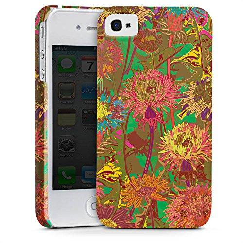 Apple iPhone X Silikon Hülle Case Schutzhülle Blumenwiese Blumen Muster Premium Case glänzend