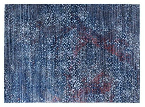 Seiden-schimmer-glanz (JINGLE FEEL moderner Designer Teppich in blau, Größe: 170x240 cm)