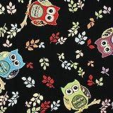 Fabulous Fabrics Gobelin Eule schwarz - Meterware ab 0,5m -