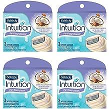 Schick Intuition Pure Nourishment Coconut Milk & Almond Oil Razor Blade Refill Cartridges, 12 count