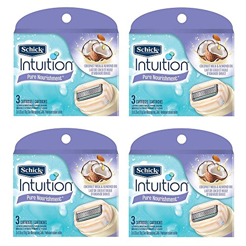 schick-intuition-pure-nourishment-coconut-milk-almond-oil-razor-blade-refill-cartridges-12-count