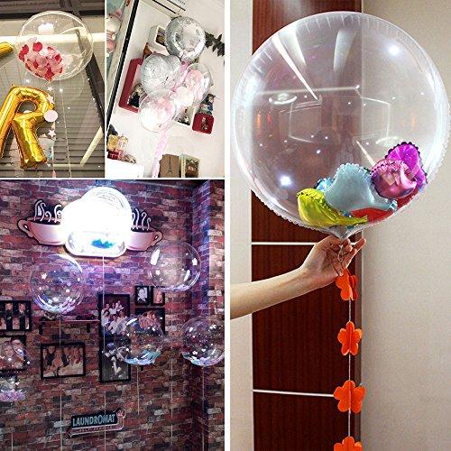 (Kicode Transparent 24 Zoll Wellenball Ballon Bobo Ball Geburtstagsfeier Hochzeitsbankett-Feier Weihnachtsdekor)