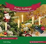 LED Weihnachtskerzen mit Tropfen 60er Set mit Zubehör + Fernbedienung, kabellose Weihnachtsbaumbeleuchtung