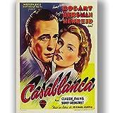 Casablanca Film Film Poster Vintage Retro-Stil Leinwand Wand Kunstdruck Bild groß Klein