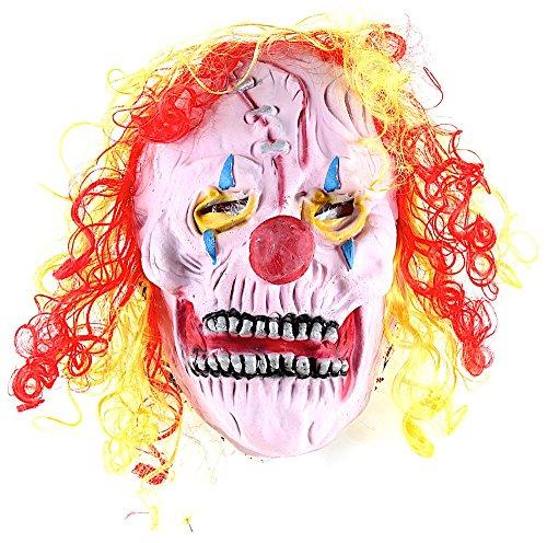 Maschera carnevale veneziano da pagliaccio clown it con cicatrice da uomo e donna, travestimento maschera horror per halloween
