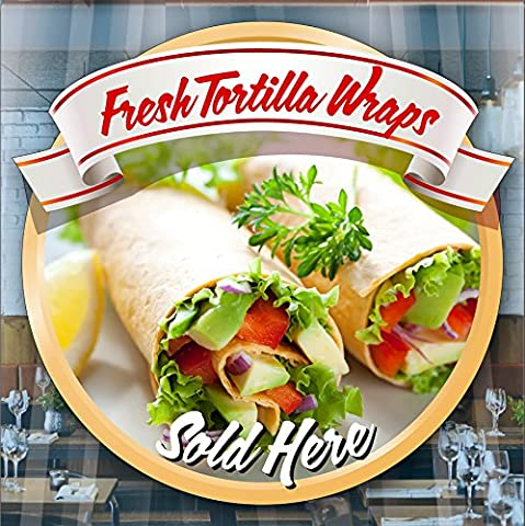 Fresh Tortilla Wraps Fenster Van Cafe Geschäft Restaurant Aufkleber Sign Decal by Inspired Walls®