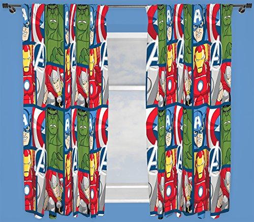 Marvel Avengers Schlacht Kinder Schlafzimmer Vorhänge 167,6cm Breit x 137,2cm Drop