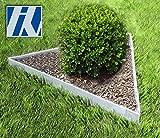 HN Kernstützen Metallwaren Rasenkante Metall Set Dreieck 76x76x76cm 13,5cm hoch Beeteinfassung Wegbegrenzung