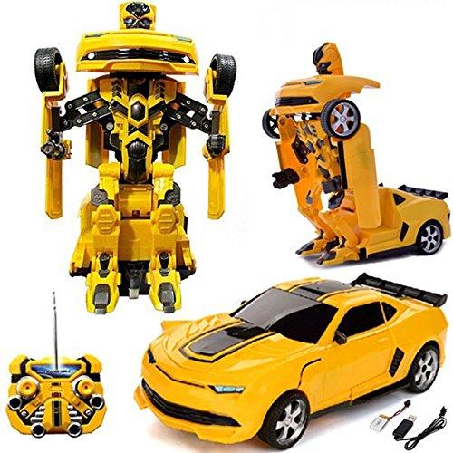Comtechlogic CM-2170 Chevrolet Camaro Rc Ferngesteuert Biene Transformers Driftende Auto & Robot mit einem berührung verwandelbar -