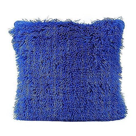 Huifengs en peluche Taie d'oreiller Coque Super Doux en imitation fourrure de Noël Taie d'oreiller Housse de coussin pour canapé lit Home Decor 16x 16