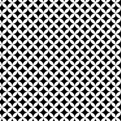 Klebefolie Möbelfolie 45 cm x 200 cm Elliott schwarz Weiss Dekorfolie selbstklebend