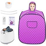 S SMAUTOP Personal Sauna Steamer, 2L Home Personal Spa Machine 1000W Full Body Sauna Tent Portable with 9 Files…