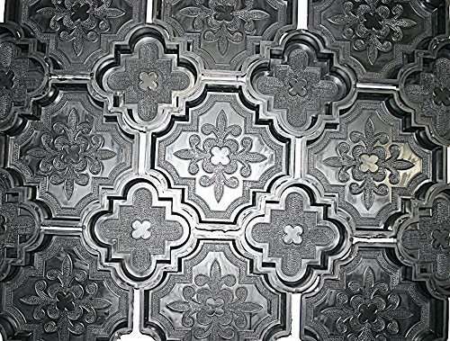12 Kunststoff Formen Schalungsformen für dekorative Orient Terrassen Platten (Form Für Beton)