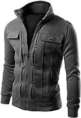 Oksale TOP Fashion Mens Slim Designed Lapel Cardigan Coat Jacket