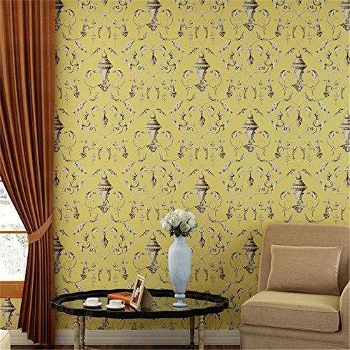 ... Tapeten Hochwertige, Nicht Gewebte Retro Haken Blumen Schlafzimmer  Wohnzimmer TV Hintergrund Extra Dicke Feste Farbe ...