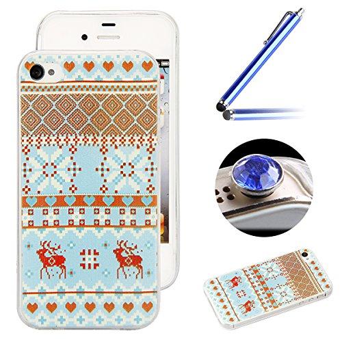 Etche Boîtier en caoutchouc pour iPhone 4/4S,Cas de TPU pour iPhone 4/4S,Coque pour iPhone 4/4S,Colorful série Imprimé Housse de la peau de pare-chocs TPU Soft en caoutchouc de silicone pour iPhone 4/ TPU #21