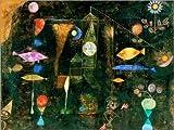 Poster 40 x 30 cm: Fisch Magie von Paul Klee - Hochwertiger Kunstdruck, Kunstposter
