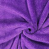 Fabulous Fabrics Teddy Plüsch Kuschel lila — Meterware ab 0,5m — zum Nähen von Jacken und Mänteln, Accessoires und Pullovern