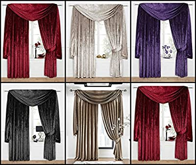 Venezia Plain Velour Curtains/Velvet Range- Available in 5 Colours