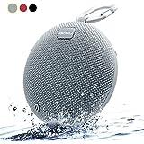 Enceinte Bluetooth Portable,iGOKU mini stéréo haut-parleur bluetooth waterproof/étanche 5W avec Batterie Durée de 24 Heures pour iphone/android et autres via AUX/SD Card Gris/Silver