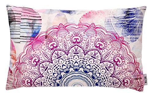 B&H Cojín, Diseño Mandala, Algodón, Multicolor, Individual, 50x30x3 cm