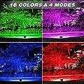 Onforu 2 Stück RGB 60W LED Strahler mit Fernbedienung | IP66 Wasserdicht 16 Farben und 4 Modi LED Fluter mit EU-Stecker | LED Flutlicht Stimmungslichter für Weihnachten, Halloween, Garten Party Deko