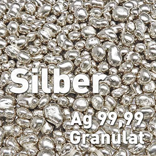 Silber Granulat 25g Silbergranulat Feinsilber Ag 99,99 rein Element Silbernuggets