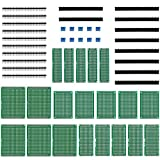Anpro 20 Pack PCB Board 4 Sizes 5x7 4x6 3x7 2x8 CM Double Sided Prototype Universal Board