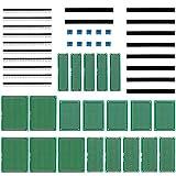 Anpro 50Stk leiterplatte Kit 20Stk PCB Universal Board 5x7 4x6 3x7 2x8CM Double Side Lochrasterplatte Lochrasterplatine Leiterplatte Platine 10 Screw Terminal 20 Kopfleiste, EINWEG