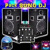 PACK SONO DJ 300W MDJ150-BT MyDj + Jeu Lumière LIGHT LED SunMagic LytOr