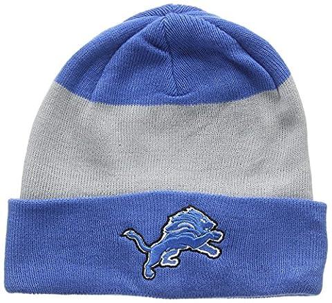 New Era Men's Team Stripe Cuff Knit Detroit Lions Beanie,