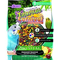 Browns Tropical Carnival ZOO VITAL Parakeet/Budgie Extruded Pellet Daily Diet-680 GM