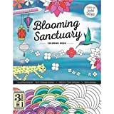 C & T Publishing C et T Publishing Blooming Sanctuary livre de coloriage, acrylique, Multicolore