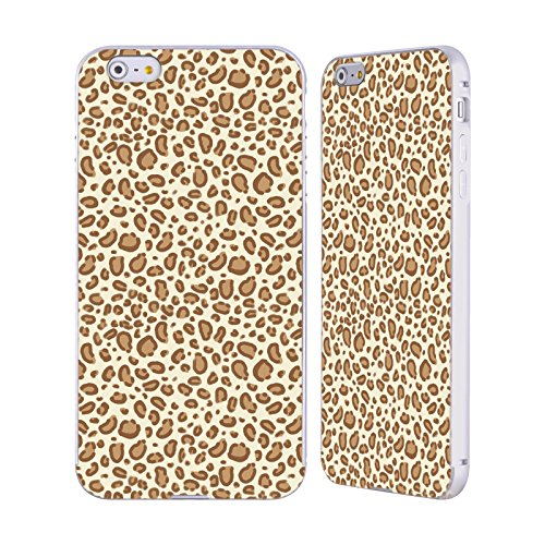 Ufficiale Charlotte Winter Fragola Pattern Assortiti Argento Cover Contorno con Bumper in Alluminio per Apple iPhone 5 / 5s / SE Leopardo Chiaro