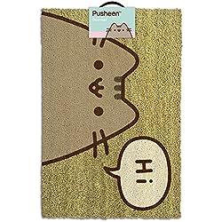 Pusheen Felpudo Hi, Fibra de Coco, Gris, 60 x 40 x 1.5 cm
