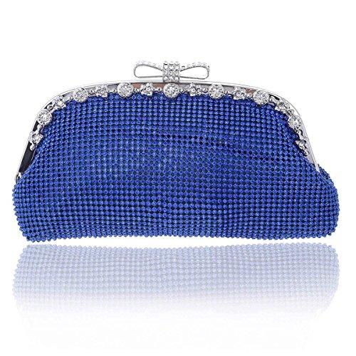 Damara® Schluppe Steckfach Schulterkette Damen Modisch Handtasche Blau