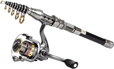 Generic Short Portable Telescopic Fishing Carbon Fiber Saltwater Rod, 1.8M (Black and Sliver, CBRSOA012302)