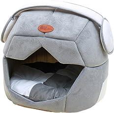 Jaimelavie Faltbares Weiches Haustier Haus Cave Hundebett Waschbar Katze Schlafen Bett Hundekorb Nest Katzenbett Hundehaus Hundehöhle Kuschelhöhle