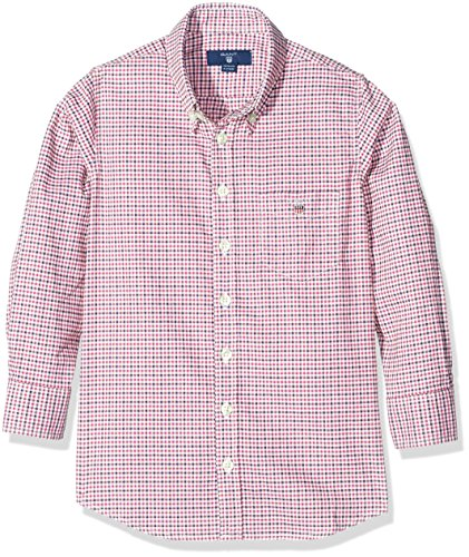 GANT Boy's O Comfort Oxford Tri Gingham Shirt, Red (Thunder Red), 15 Years (Manufacturer Size:170)