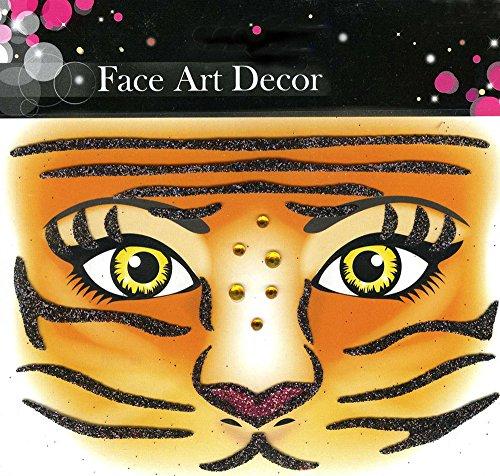 Face Art Decor Glitzer Tattoo Sticker ()