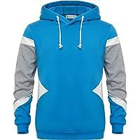 GLESTORE Sweat-Shirt à Capuche Homme Manches Longues Hiver Slim Fit Noir Bleu Marron