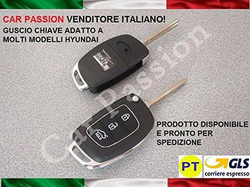 Cover chiave guscio hyundai i20 i30 ix20 ix35 ix45 tucson 3 tasti telecomando