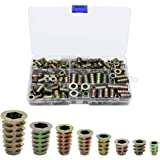 230 Pcs Hex Socket Screw Nut Sets Multiple Specifications Corrosion Resistance Threaded Zinc Alloy Wire Hex Drive Head Nuts f
