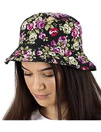 8cb455ca526 TOSKATOK UPF 50+ Ladies Reversible Floral Cotton Bush Bucket Sun Hat