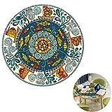 BAIVIN Mandala Runden Tisch Renovierung Aufkleber Kinderzimmer Schlafzimmer Wasserdichte Bodenaufkleber Selbstklebende Anti-Rutsch,C,60CM