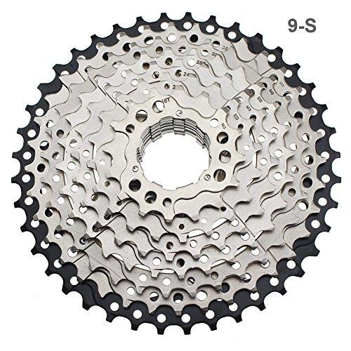 CYSKY MTB 9-fach Kassette 11-40T Fit Mountainbike Rennrad Kompatibel für SRAM Shimano Sunrace 9-fach Freilaufkörper - Shimano 11-fach Freilaufkörper